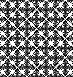 Black and white floral patterned background vector