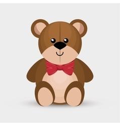 Bear teddy toy isolated icon vector