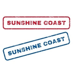 Sunshine coast rubber stamps vector