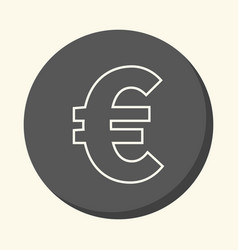 Symbol of euro european currency round vector