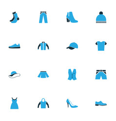Garment colorful icons set collection of skirt vector
