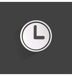Clock web icon button vector image