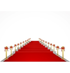 Red carpet and stairs for VIP persons vector image