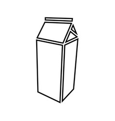 package for milk black color icon vector image