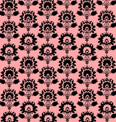 Seamless folk pink and black background vector