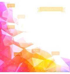 Background low poly infographics vector