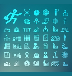 Human resource icons retina set vector