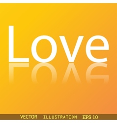 Love you icon symbol flat modern web design with vector