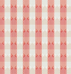 Vintage red lines seamless pattern vector