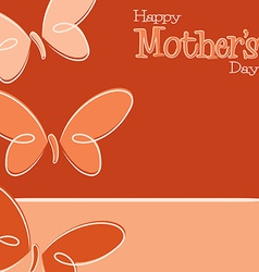 Hand drawn happy mothers day card in format vector