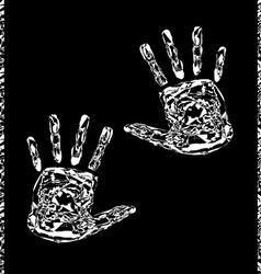 White hands artistic vector