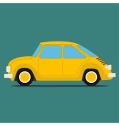 Yellow Sport car vector image