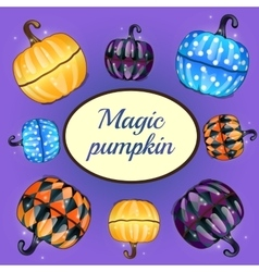 Magic pumpkin and oval space for text vector
