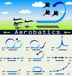 Aerobatics airplane vector