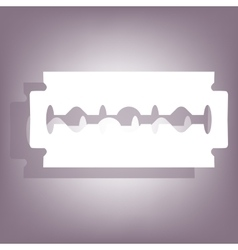 Razor blade icon with shadow vector
