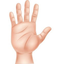 Cartoon of human hand vector