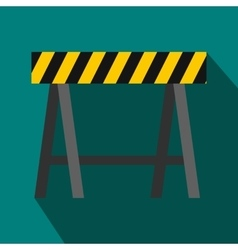 Traffic barrier icon flat style vector
