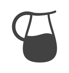 Jug with cork vector