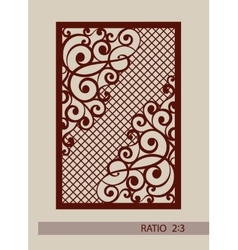 The template for laser cutting decorative panel vector