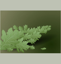 Background with branch vector