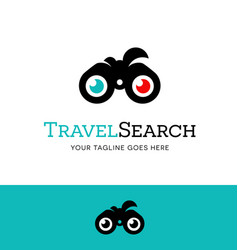 binoculars logo or icon for searching the internet vector image vector image