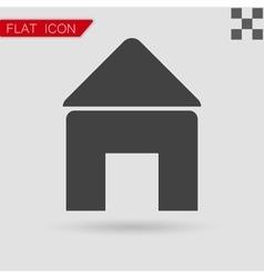 Black Home open door icon vector image vector image
