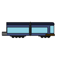 Blue train wagon rail vector