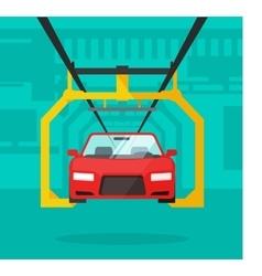 Car production line automobile vector