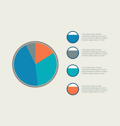 Diagram style collection business infographic vector