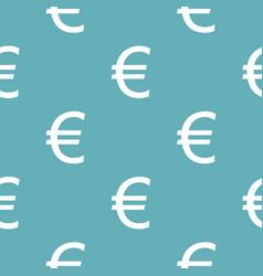 euro symbol pattern seamless blue vector image vector image