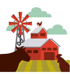 farm barn design vector image vector image