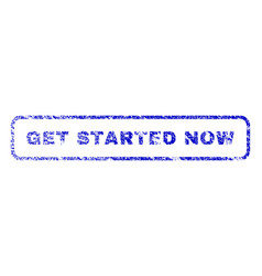 Get started now rubber stamp vector