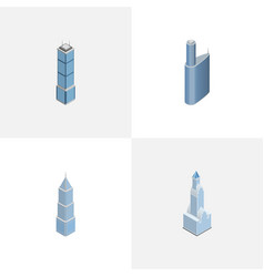 Isometric construction set of cityscape building vector