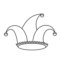 Jester hat celebration ornament thin line vector