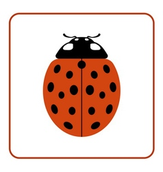 Ladybug red cartoon icon realistic vector