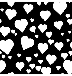 pattern with hand paint hearts vector image vector image