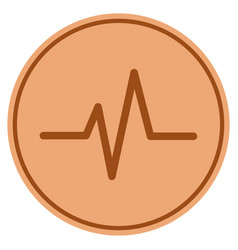pulse bronze coin vector image vector image