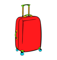 red travel suitcase icon icon cartoon vector image vector image