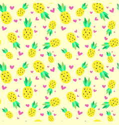 Seamless pattern pineapple tropical summer vector