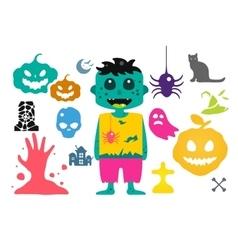 Set of halloween costume characters vector