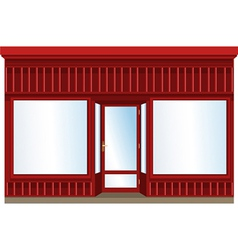 Shop window vector image