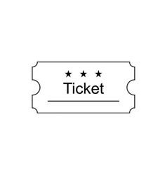 Ticket outline icon vector image
