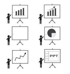 Training presentation icon man presenting vector