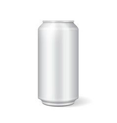 white metal can for soft drinks soda vector image