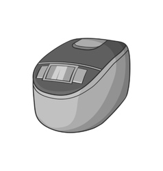 Slow cooker icon black monochrome style vector