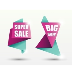 Sale banner templates vector