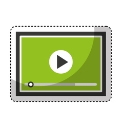 Media player isolated icon vector