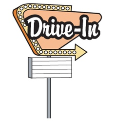 Drive in sign vector