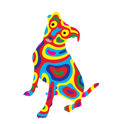 rainbow dog 8 vector image