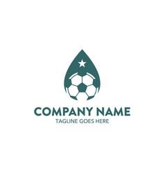 soccer logo vector image